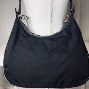 Gucci nylon and leather shoulder bag